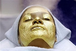 Women getting a facial