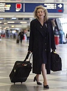 Flight Attendant in an airport