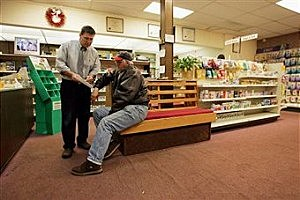 Older man in Pharmacy