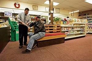 Older man in Pharmacy