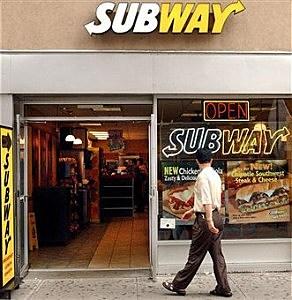 Man walks into a Subway